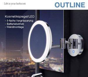 Kosmetikspiegel LED Outline