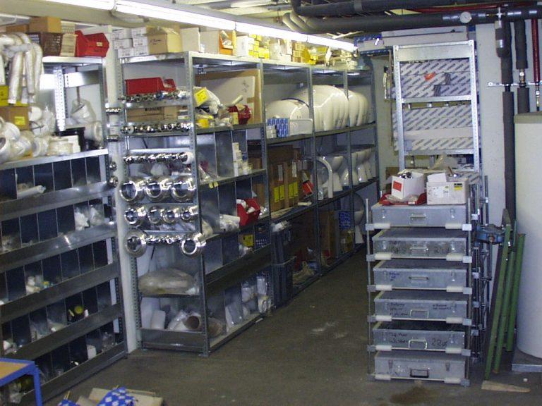Heizung-Sanitär Stuttgart Kundendienst Lagerraum